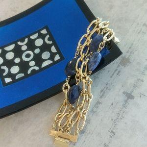 St. John Lapis and Gold Bracelet